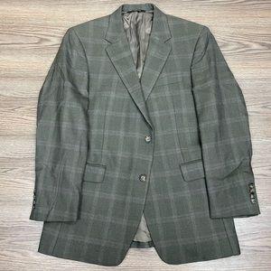 Jos A Bank Olive & Rust Plaid Sport Coat 40R
